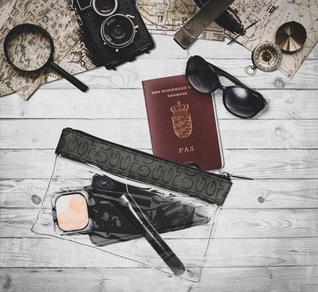 Gillian Jones Check-in bag, transparant med logo