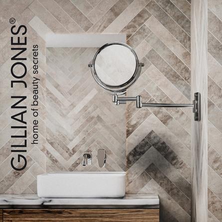Gillian Jones Vægspejl Sølv 1 x og 10 x forstørrelse