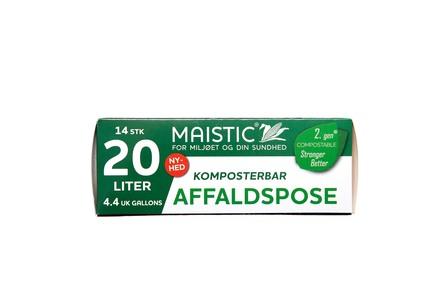 Maistic Bio Komposterbare affaldsposer 20 L, 14 stk.