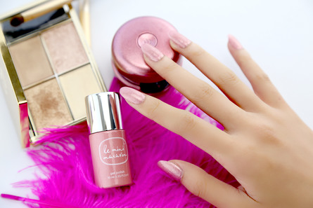 Le mini macaron Gel Manicure Kit Rose Gold