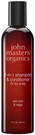 John Masters Organics 2-in-1 Shampoo & Conditioner for Dry Scalp with Zinc & Sage 236 ml