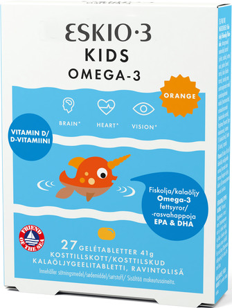 Eskio-3 Kids Omega-3 Orange 27 gelé tabl.