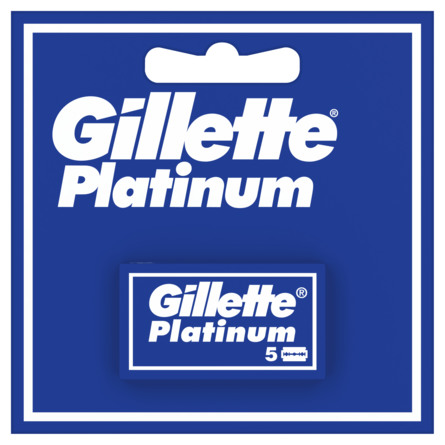 Gillette Double Edge Platinum Barberblade 5 stk.