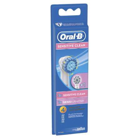 Oral-B Tandbørstehoveder, 3 Sensitive Clean og 1 Sensei Ultrathin 4 stk.