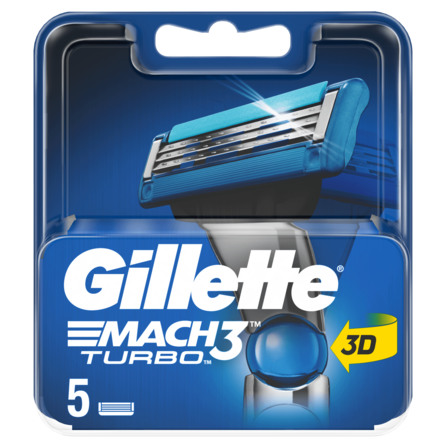 Gillette Mach3 Turbo Barberblade 5 stk