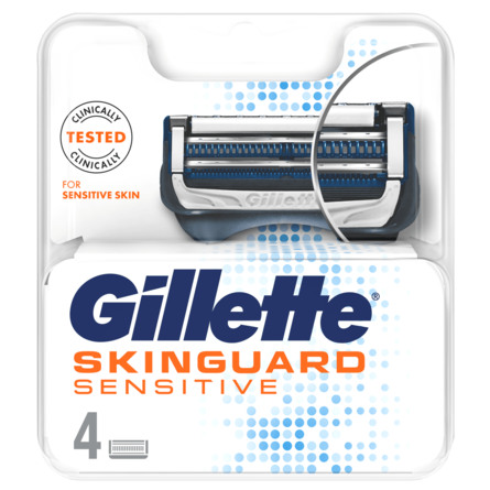 Gillette Skinguard Sensitive Barberblade 4 stk.