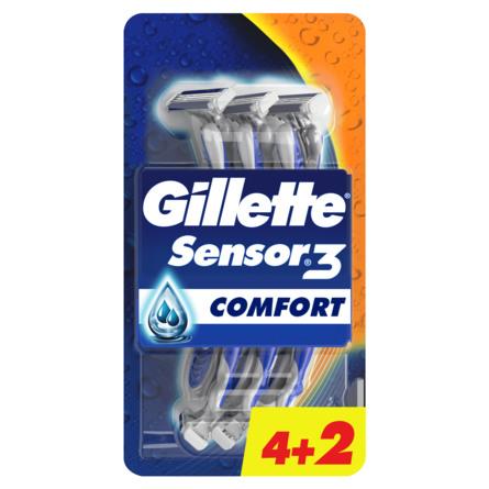 Gillette Sensor3 Engangsskrabere Value Pack 4+2 stk.
