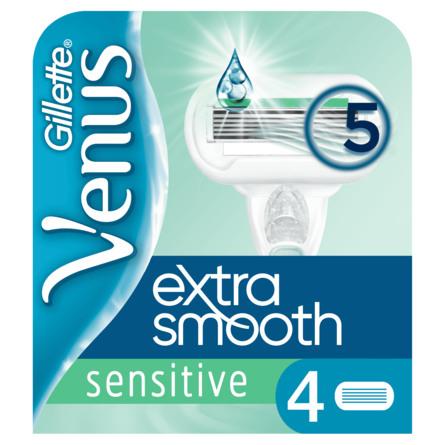 Gillette Extra Smooth Sensitive Barberblade 4 stk.