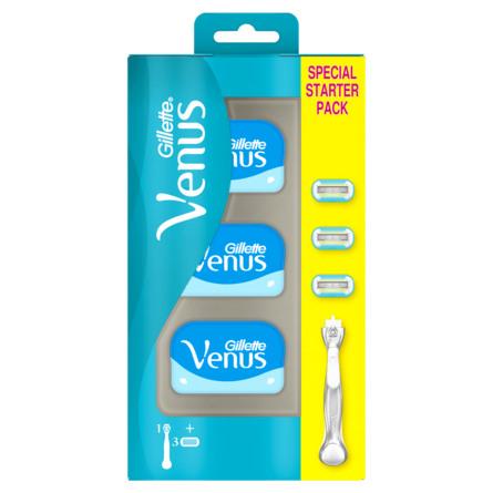 Gillette Venus Platinum Extra Smooth Barberskraber + 2 Blade Med Metalhåndt + 2 Blade - Metalhåndtag