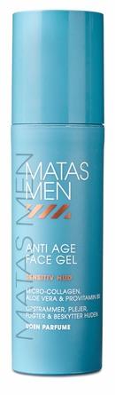 Matas Striber Men Anti Age Face Gel til Sensitiv Hud Uden Parfume 50 ml