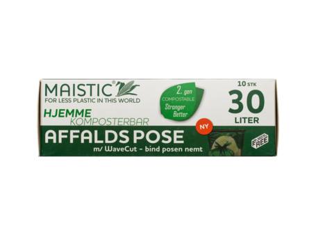 Maistic Bio Hjemmekomposterbar WaveCut Affaldpose 10 stk.