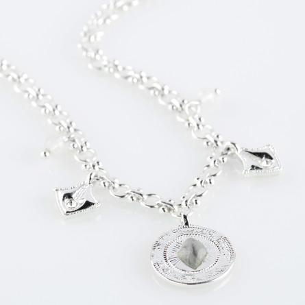 Pilgrim Halskæde Nomad Sølv belagt krystal