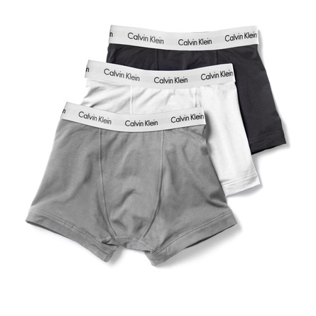 Calvin Klein Undertøj Trunks 3 pak Hvid/grå/sort str. XL