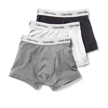 Calvin Klein Undertøj Trunks 3 pak Hvid/grå/sort str. S