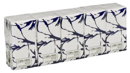 Abena Papirlommetørklæde 3-lags 10x10 stk