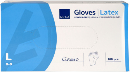 Abena Latex handsker pudderfri 100 stk. Large