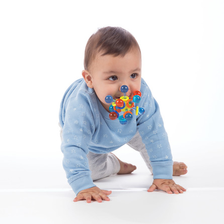 Manhatten Toy Transparent Atom Teether Toy Multi Color