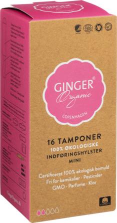 Ginger Organic Tampon m/indføring - Mini 16 stk