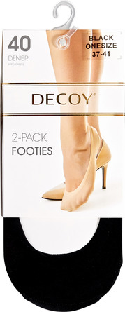Decoy Footies Lasercut 2-pk Sort, 40 Den., str. 37-41