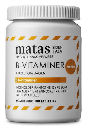 Matas Striber B-vitaminer 100 tabl