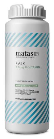 Matas Striber Kalk 400 mg+D-vitamin 5 µg 300 tabl