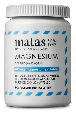 Matas Striber Magnesium 200 mg 100 tabl