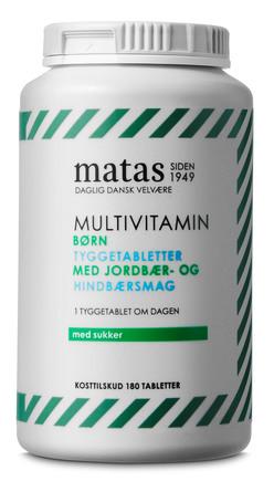 Matas Striber Multivitamin Børn m. sukker 180 tabl