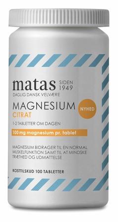 Matas Striber Magnesium Citrat 100 tabl.