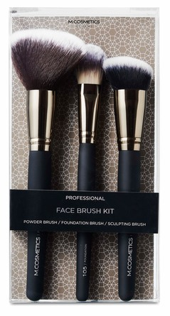 M.COSMETICS Professionel Face Brush Kit No. 100, 105 & 109