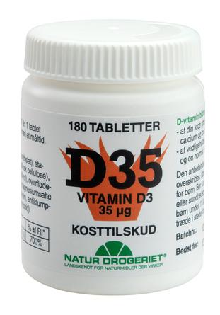 Natur Drogeriet D35 vitamin D3 35 µg 180 tabl