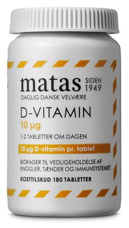 Matas Striber D-vitamin 10 µg 180 tabl