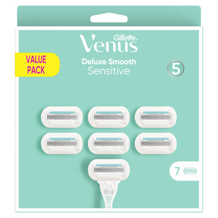 Gillette Venus Deluxe Smooth Sensitive-barberblade 7 stk.