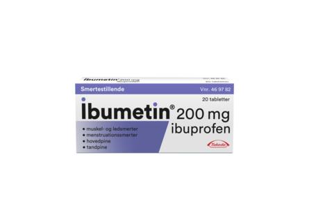 Ibumetin 200 mg 20 Tabletter