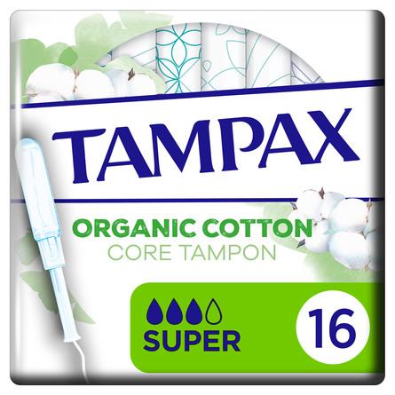Tampax Organic Super Tamponer 16 stk