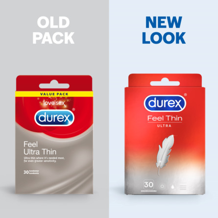 Durex Feel Ultra Thin kondom 30 stk