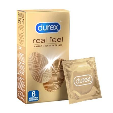 Durex Real Feel kondomer latex-fri 8 stk