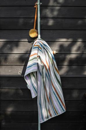 Mette Ditmer Multi Badehåndklæde Lys Grå 70 Cm X 135 Cm