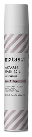 Matas Striber Argan Hair Oil Uden Parfume 50 ml
