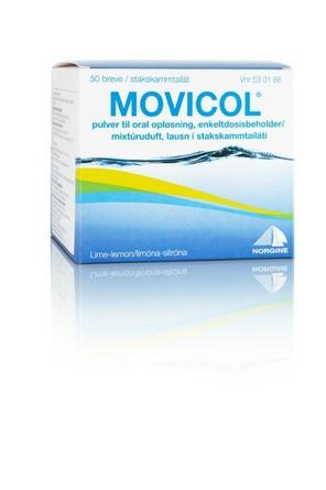 Movicol Pulver til Oral Opløsning med Lemon Smag 50 Breve