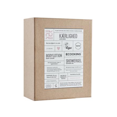 Ecooking Kærlighedssampak -Bodylotion - Showergel 300 ml + 300 ml