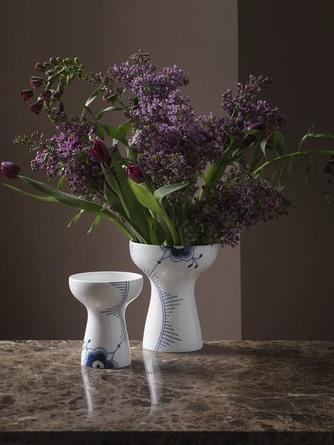 Royal Copenhagen Blå Mega Riflet Vase 19 cm