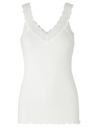 Rosemunde Organic Top V-neck Regular New White Str. XL