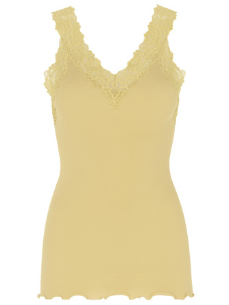 Rosemunde Organic Top V-neck Regular Vanilla Yellow Str. XS