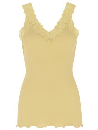 Rosemunde Organic Top V-neck Regular Vanilla Yellow Str. XL