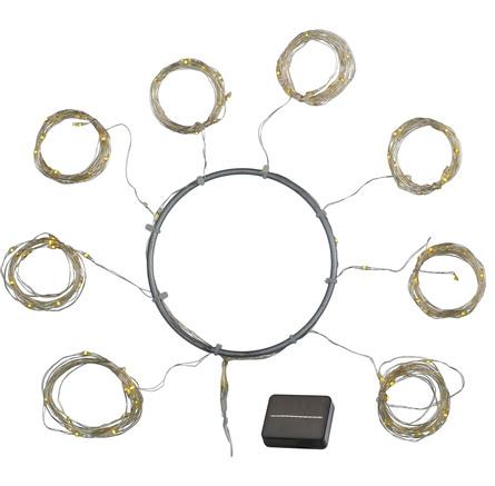 Sirius Knirke Solar Parasol lyskæde 96 lys, 8 arme