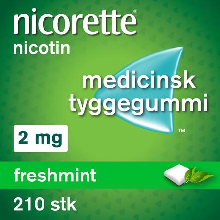 Nicorette® Freshmint tyggegummi 2 mg 210 stk