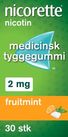 Nicorette® Fruitmint tyggegummi 2 mg 30 stk