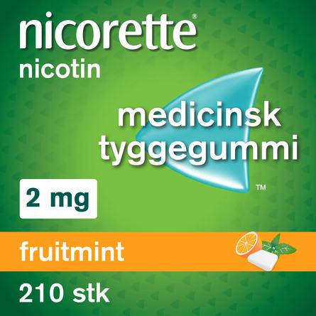 Nicorette® Fruitmint tyggegummi 2 mg 210 stk