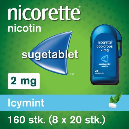 Nicorette® Sugetablet IcyMint 160 stk