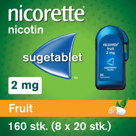 Nicorette® Sugetablet Fruit 160 stk